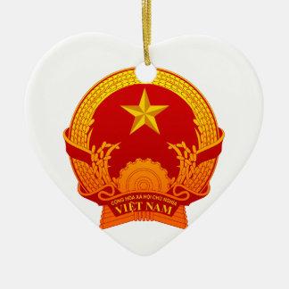 Vietnam crest2 ceramic heart decoration