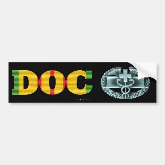 Vietnam DOC Combat Medical Badge Sticker