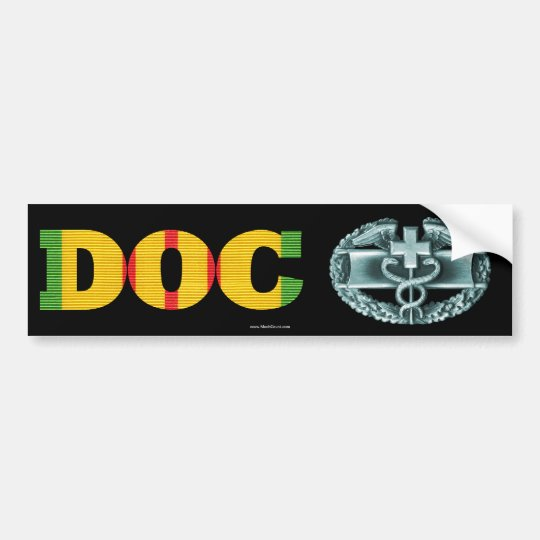 Vietnam DOC Combat Medical Badge Sticker Bumper Sticker