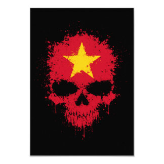 Vietnam Dripping Splatter Skull Personalized Announcement