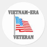 Vietnam-era Veteran Classic Round Sticker