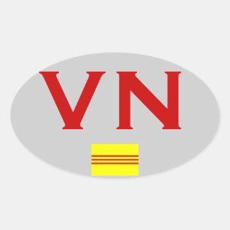 VIETNAM Euro-Style Bumper Sticker