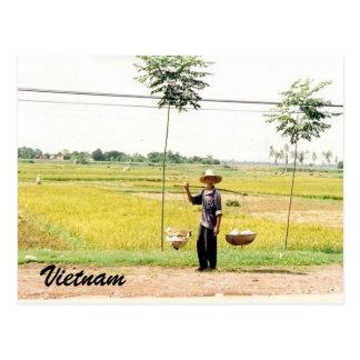 vietnam farmer postcard