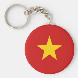 Vietnam Fisheye Flag Keychain