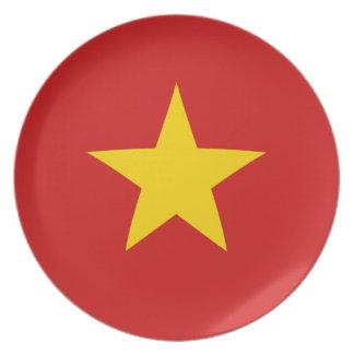 Vietnam Fisheye Flag Plate