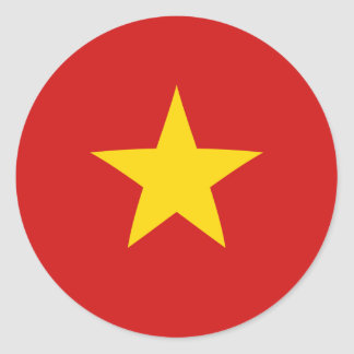 Vietnam Fisheye Flag Sticker