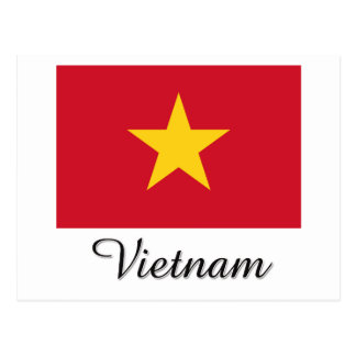 Vietnam Flag Design Postcards