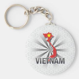 Vietnam Flag Map 2 0 Keychain