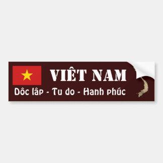 Vietnam Flag + Map Bumper Sticker