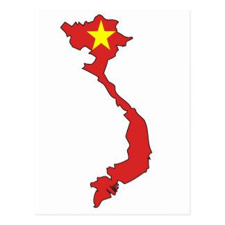 Vietnam flag map post card