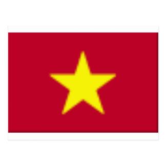Vietnam-flag Postcard