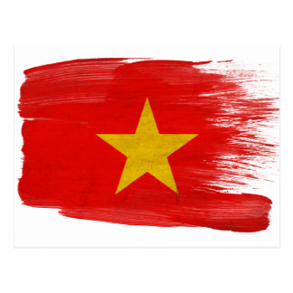 Vietnam Flag Postcards