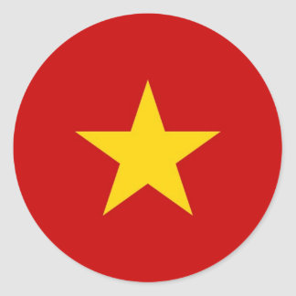 Vietnam flag round sticker