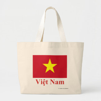 Vietnam Flag with Name in Vietnamese Tote Bag