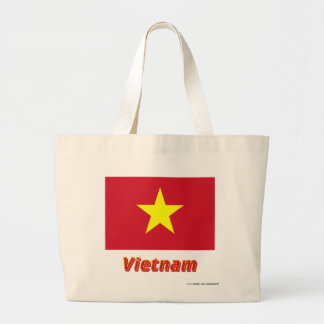 Vietnam Flag with Name Canvas Bags