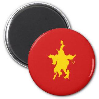 Vietnam Gnarly Flag Fridge Magnets