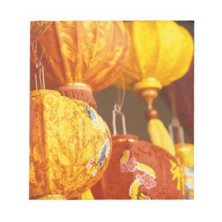 Vietnam, Hoi An Large lanterns, souvenirs Notepad