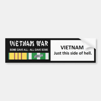 VIETNAM - JUST THIS SIDE OF HELL BUMPER STICKER
