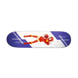 Vietnam Manga girl dressed in Flag - Vietnamese Custom Skate Board
