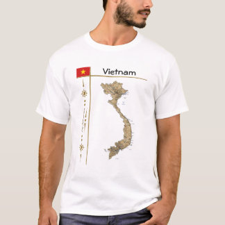 Vietnam Map + Flag + Title T-Shirt