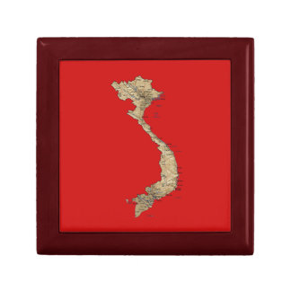 Vietnam Map Gift Box