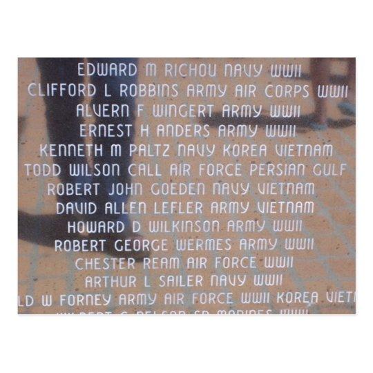 Vietnam Memorial Postcard