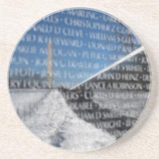 Vietnam Memorial Wall Reflection Beverage Coasters
