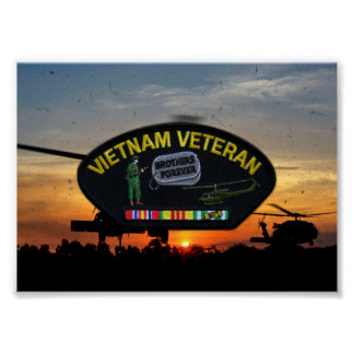 Vietnam Nam War LRRPS Veterans Vets Patch Poster