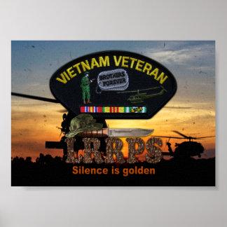 Vietnam Nam War LRRPS Veterans Vets Patch Print