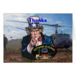 Vietnam nam war veterans vets patch Card