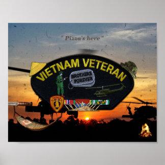 Vietnam Nam War Vets Veterans Patch Print