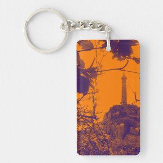 Vietnam Oldest Highest Lighthouse Orange Photo Key Ring
