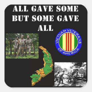 Vietnam Remembrance Square Sticker