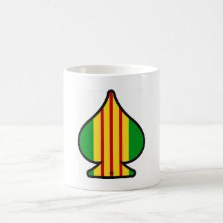 Vietnam ribbon ace of spades coffee mug