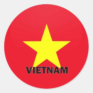 Vietnam Roundel quality Flag Classic Round Sticker