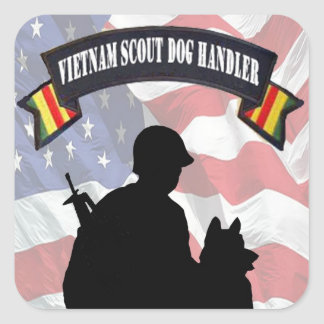 Vietnam Scout Dog Handler Stickers