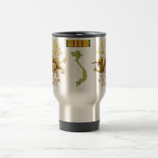 Vietnam Service Dragon and map Stainless Steel Travel Mug