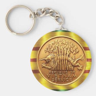 Vietnam service medal key ring