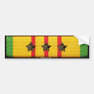Vietnam Service Ribbon - 3 Campaign Stars Bumper Stickers