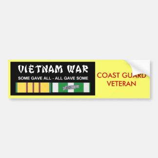 VIETNAM SERVICE RIBBONS - COAST GUARD VET BUMPER STICKER