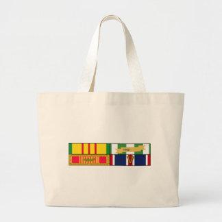 Vietnam Service-Vietnam Campaign-Vietnam Gallantry Jumbo Tote Bag