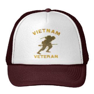 VIETNAM SOLDIER IN GOLD TRUCKER HAT