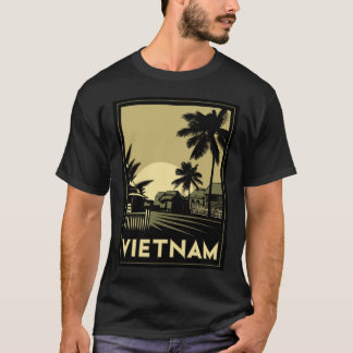 vietnam southeast asia art deco retro travel T-Shirt