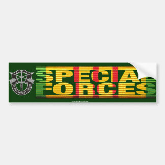 Vietnam Special Forces Insignia Ribbon Bumper Sticker