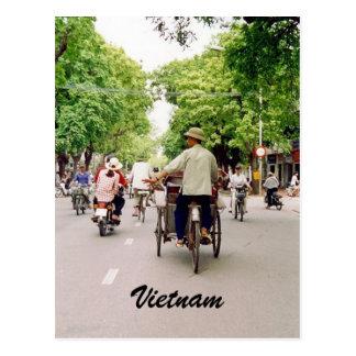 vietnam street postcard