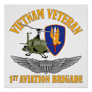 Vietnam Vet Aviator Wings Poster