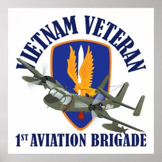 Vietnam Veteran Mohawk Poster