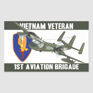 Vietnam Veteran Mohawk Rectangular Sticker