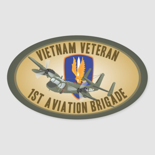 Vietnam Veteran Mohawk Oval Sticker