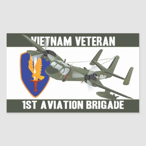Vietnam Veteran Mohawk Rectangle Stickers